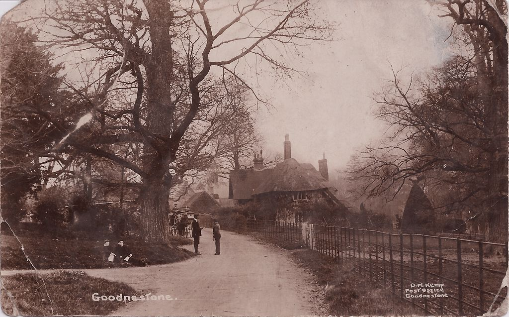 The Street looking north towards the centre of the village from Goodnestone Park